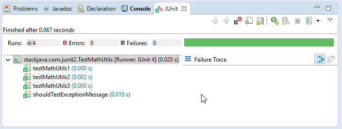 JUnit Expected Exceptions - code ví dụ test exception với JUnit